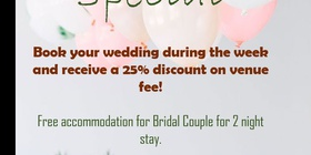 Wedding Weekday Special